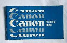 Canon Products Guide, 5 x 3 in, 50 Page booklet, 1960's