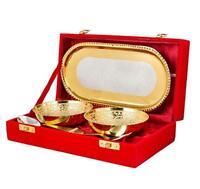 Festival Gifts Elegant Golden And Silver Color Plated Bowls Set
