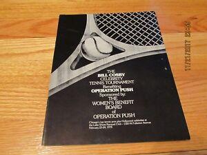 RARE 1974 BILL COSBY CELEBRITY TENNIS TOURNAMENT PROGRAM- OPERATION PUSH CHICAGO