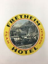 Fretheim Hotel Luggage Label Norway Flam Picture