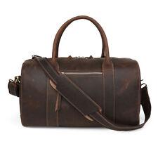 Men Women Genuine Leather Luggage Gym Duffle Travel Weekend Handbag  Shoulder Bag a852f9add009d