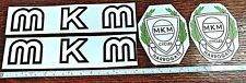 MKM water decal set. On clear paper. Authentic design.