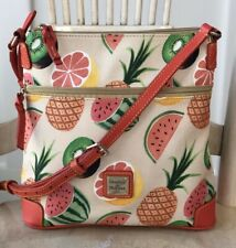 DOONEY & BOURKE Ambrosia Crossbody Watermelon Fruit PVC & Leather Trim Handbag