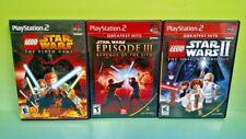 LEGO Star Wars I + II Original Trilogy + Episode III PS2 Playstation 2 Complete