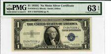 $1 1935 G NO MOTTO SILVER CERTIFICATE PMG SUPERB GEM 63EPQ