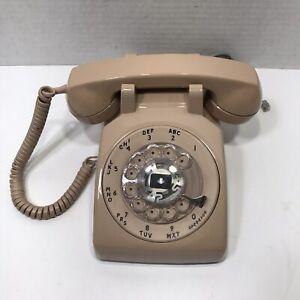 Vintage Radio Shack Beige Rotary Dial Telephone- Working