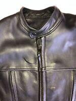 Johnson Leather Black Motorcycle Jacket 40 San Francisco USA Cafe Racer