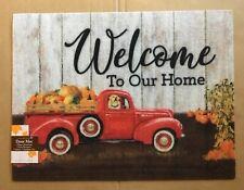 Red Truck Pumpkins Fall Welcome Mat Indoor/Outdoor NEW