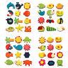 12Pcs Colorful Wooden Carton Animal Sunflower Fridge Magnet Kid Education Toy