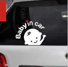 Reflective Baby In Car Waving Decal Sticker Renault Duster Pulse Scala Fluence