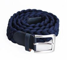Cintura uomo donna INTRECCIATA elastica BLU cinta belt jeans