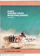 6758 Alaco Truss Wood Fire Ladder c 1982 flier El Monte, CA firemen department