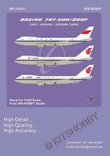 RIBHOBBY decal 1/200 Boeing 747-200/200F - CAAC, Air China, Air China Cargo