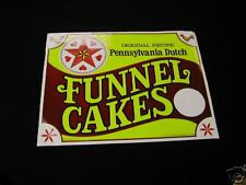 Funnel Cake Concession Sign Pennsylvania Dutch