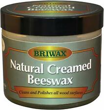 Briwax Natural Creamed Clear Beeswax Polish Polishes All Wood Surfaces 250ml