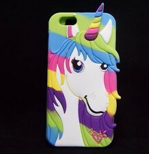 For iPhone 4 / 4S - SOFT RUBBER SILICONE CASE COVER SKIN RAINBOW UNICORN HEART