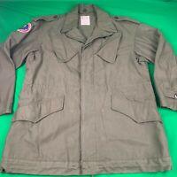 Men's Vintage Dutch Military Jacket Drab Green KL Seyntex 100% Cotton