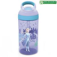 Zak Designs Disney Frozen 2 Elsa 16 ounce Plastic Water Bottle with Spout Cover