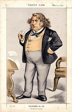 "VANITY FAIR CARTOONS -  US SENATOR CHARLES SUMNER  - ""NAST"" - THOMAS NAST (1872)"
