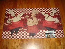 Anti Fatigue PVC Foam Kitchen Floor Mat Rug 20x36  Fat Chefs WELCOME Eat CAFE!!