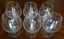 LOT DE SIX VERRES COURVOISIER COGNAC NAPOLEON FRANCE GLASSES