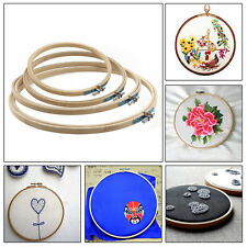 4PCS 17/20/23/26cm Circle Round Wooden Embroidery Cross Stitch Ring Hoop Frame