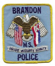 Brandon MISSISSIPPI MS Police patch OLD