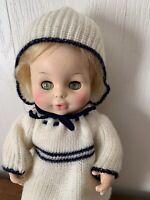"1977 Blonde CUTE Baby Doll Toy W/ Rosy Cheeks Sleepy Eyes Horsman 12"" Vintage"
