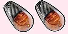INDFCBN Universal Motorcycle  Fairing Indicators-  Carbon look body, Amber lens