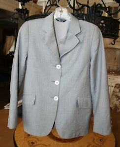 Hadfield's Grand Prix Light Grey Show Jacket - girl's size 12R -barely worn