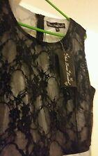 BNWT LACE  BLACK SILVER DRESS SIZE 12 BY MELA LND EVENING  SUMMER GORGEOUS DRESS
