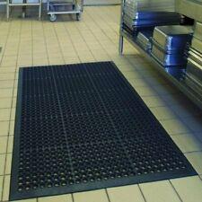 Heavy Duty Black Quality Restaurant / Bar Anti-Fatigue Rubber Floor Mat 5 x 3