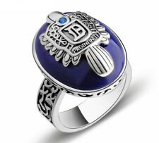 The Vampire Diaries Silver Damon Salvatore Ring Gem Natural Stone Fine Jewelry