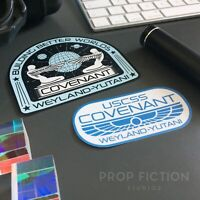 Alien: Covenant - Pair of Prop USCSS Covenant Case Stickers / Equipment Decals