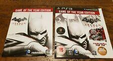 Batman Arkham City PS3 Game Manual & Insert Only
