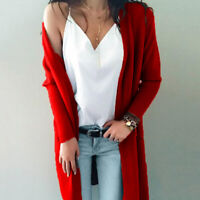 Women Long Sleeve Knit Open Front Cardigan Top Jacket Jumper Coat Sweater