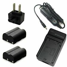 Charger + 2x 7.4v 1900mAh Battery for PENTAX D-LI50 K10D GP K10D Grand Prix K20D