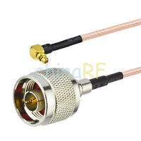 3 FT N male to MMCX male right angle pigtail cable RG316 1m for Wireless Antenna