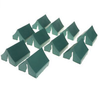 Plastic Toy Soldiers Figures -10 PCS Military Model Kits -Tent Green