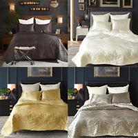 3 Piece Satin Queen Size Quilt Duvet Cover&Pillowcases Bedroom Bedding Bed Set