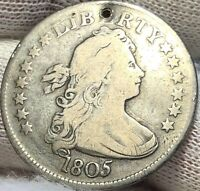 1805 Draped Bust Quarter - Heraldic Eagle - VG - ATTRACTIVE PATINA