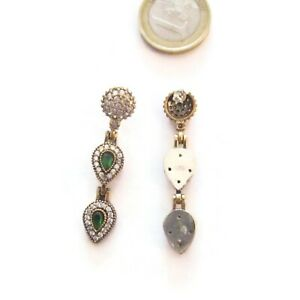 particolari orecchini  tradizione artigianale turca argento 925 ottone zirconi