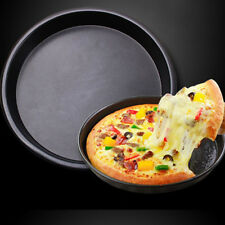 8'' Round Pizza Pancake Pan Dish Pie Bakeware Baking Tin Oven Bread Plate Tray