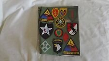 Army Military Book Cover,Patches of 27 Units,airporne,ranger,inf antry,cavalry #1