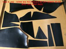 2kg bag premium italian leather offcuts - black. HI-SHINE 3.5mm, veg tanned