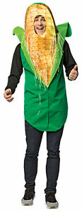 ADULT GET REAL CORN ON THE COB VEGETABLE HEALTHY FOOD COSTUME GC6951