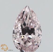SI2 Pear Fancy Light Pink GIA Certified Loose Diamond Engagement Ring