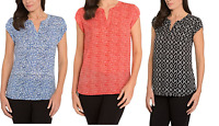 NEW Hilary Radley Ladies' Printed Blouse - VARIETY