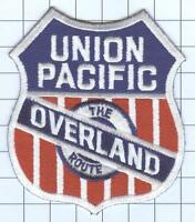 "RAILROAD PATCH  - UNION PACIFIC OVERLAND 3 1/2"" X 4 """