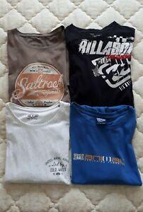 Mens T Shirt Bundle - Size Large, Billabong/Animal/Saltrock (4 items)